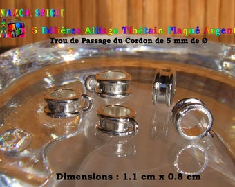 10 bails in Tibetan Silver - 5 mm hole ∅ plated alloy