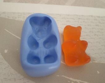 "Flexible silicone mold ""sweet Teddy bear 2.5 cm"""