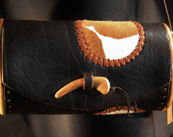 little calf skin leather handbag