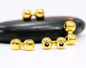Engraved Monogram Necklace Two Hole 14k Gold Filled Modern