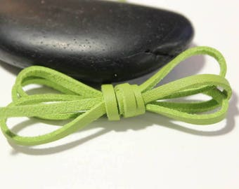 Green leather effect - 5 m cord 3 x 1, 5mm
