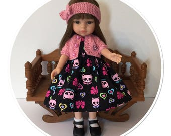 Clothes doll Paola Reina cats hearts