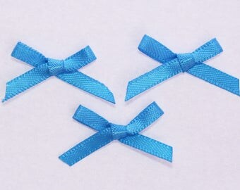 25 x 3mm - color Turquoise - 2319 Satin Ribbon bows