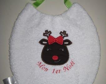 "My first Christmas Baby bib ""Rene Santa Claus"""