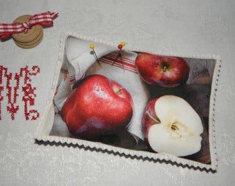 BALANCES Pincushion pillow pattern ref.1390 red apples