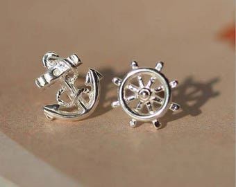 Sailor Style 925 Sterling Silver earrings