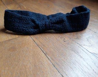 Headband / headband for baby / girl Navy Blue
