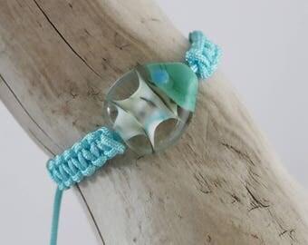 murano glass fish bracelet