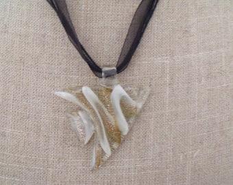 glass fish pendant necklace