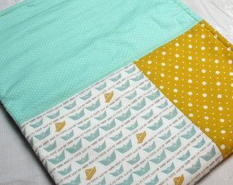 Baby blanket: little paper boats