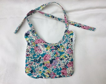 bib Liberty Claire Aude turquoise Pink / White Sponge for 30 to 36 cm doll
