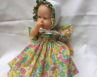 Liberty Poppy and Daisy dress and 30 cm dolls