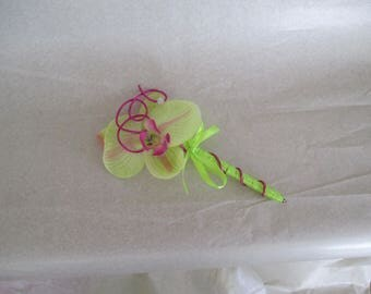 Pen for guest book, fuchsia and green