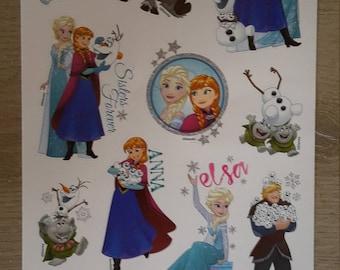 Frozen decoration stickers