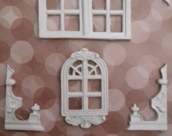 Plaster baroque frames