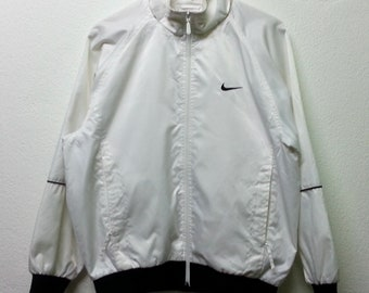 Vintage 90s Nike Hoodie Windbreaker Jacket Hip Hop Size L