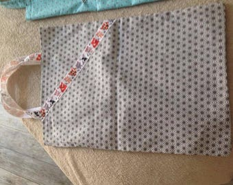 Tote bag theue cat asanoha