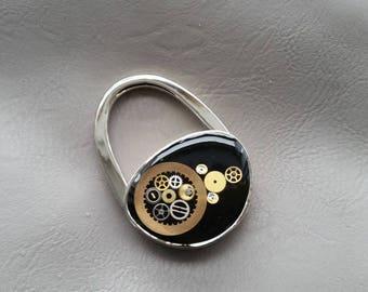 Handbag metal, resin, Steampunk watch parts