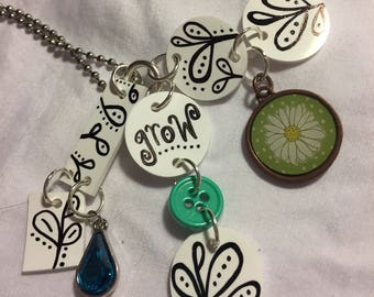 Grow Shrinky dink pendant necklace