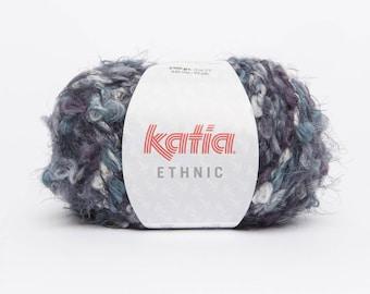 big yarn Katia - ETHNIC - No. 58 gray-mature-turquoise