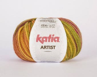 wool degraded Knitting ARTIST from KATIA color 312