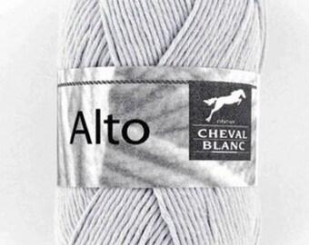 100% cotton crochet yarn wool knitting Viola color gray No. 140 ° N white horse 071