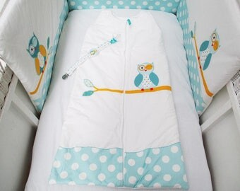 Sleeping bag 2nd age theme blue and white OWL