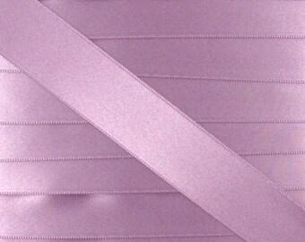 Satin ribbon / purple LILAC / width 10mm, 50cm cut