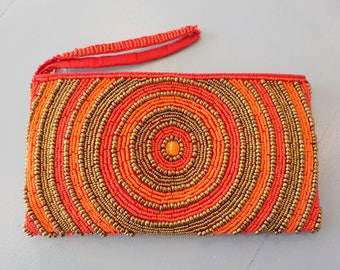 Orange and Red pouch