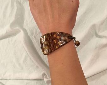 Fimo imitation inlay bracelet