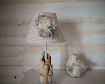 Romantic lamp linen & Driftwood No. 2