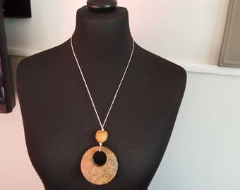 Crystal coconut Philippines and cord necklace