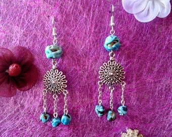 Blue Brown earrings