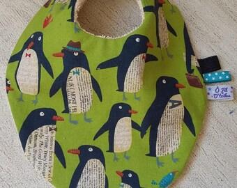 "bandana bib. 3-12 months ""penguins"""