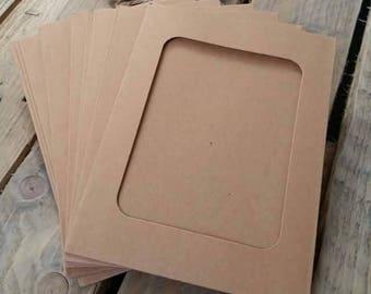 10 PCs kraft paper photo frames