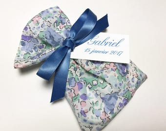 10 sachets customized Liberty Claire Aude sky