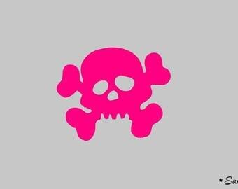 applique thermocollante flex neon pink skull
