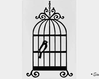 flex pattern romantic bird cage patch