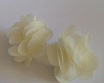 Earrings flowers fabric