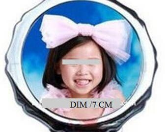 Customize with your photo and name Pocket mirror