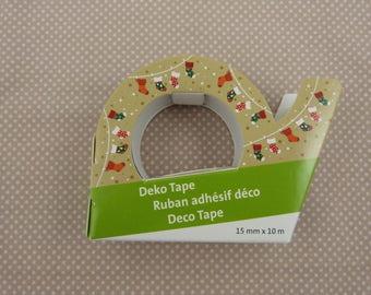 Masking tape roll Christmas: Christmas stocking
