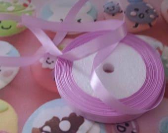 1 meter of satin ribbon purple 10mm wide n4