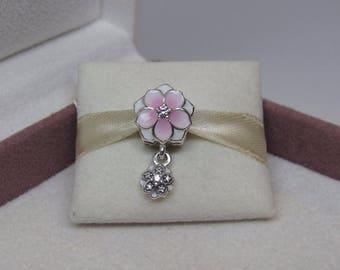 Genuine Pandora Magnolia Blooms Pendant Charm 792077PCZ