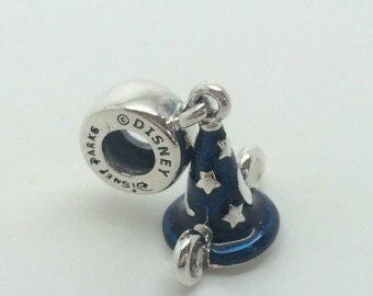 Genuine Pandora Disney Mickey Mouse Sorcerer's Hat Pendant Charm