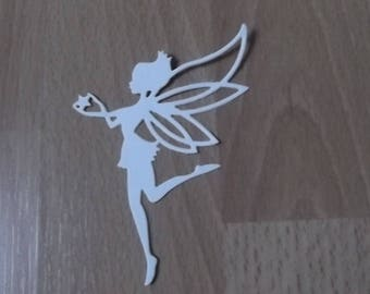 5 cuts fairies in the colors of your choice for your scrapbooking creations.