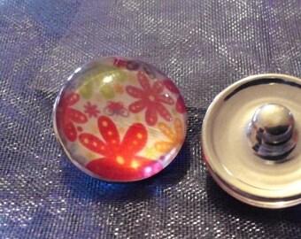 Snap flower for DIY bracelet, necklace, ring