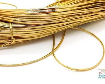 1 m thread lurex gold, flat cord for bracelet 1x2mm (fil162)