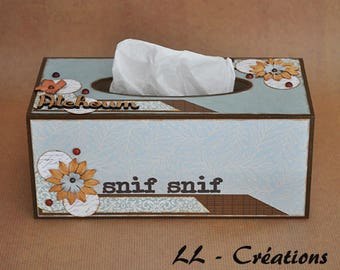 Personalized wood tissue box