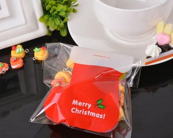 10 sachets bags pouches Father Christmas gift 12.9x9.9cm