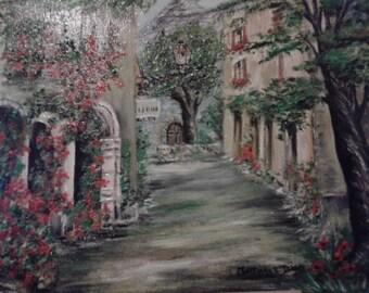 """Oil painting """"Le Castellet"""""""
